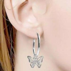 BUTTERFLY HOLLOW PENDANT EARRINGS